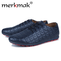 Merkmak Leisure Shoes Men Hot Sale Fashion PU Leather Casual Exercise Summer Breathable Flats Footwear Shoes