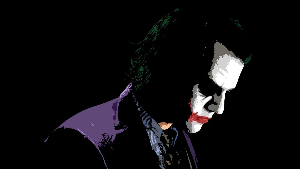 Gratis Kapal Bedroom Decor Kustom Jahat Joker Batman Kanvas Poster Klasik Wallpaper Desain Baru Kartun Wall