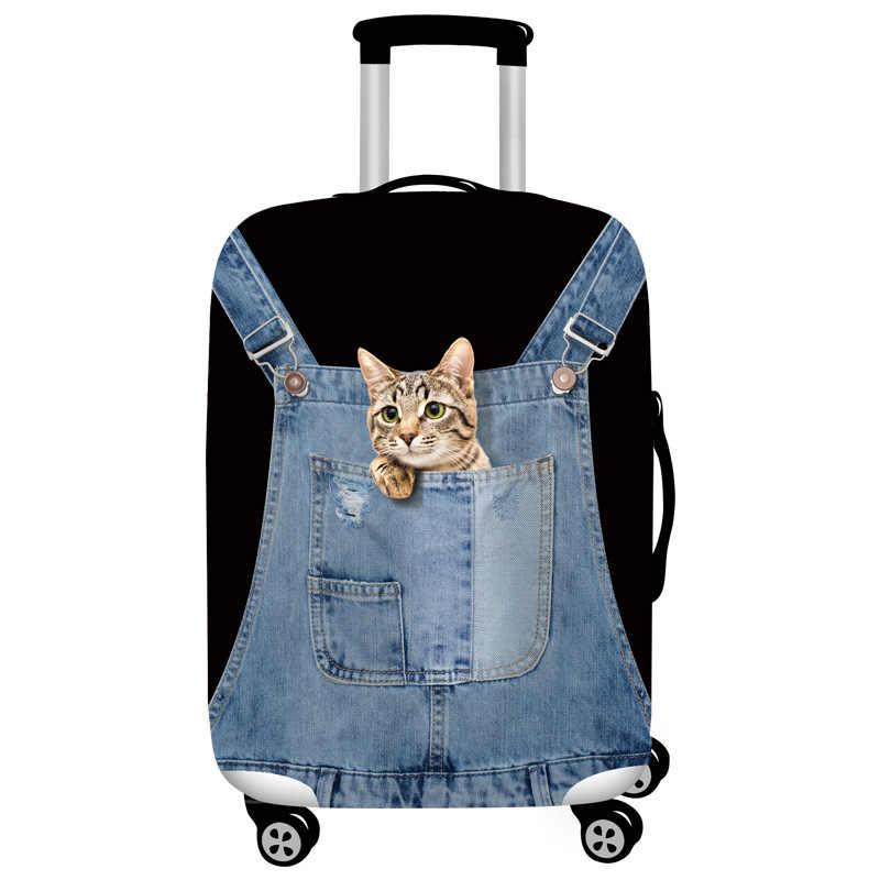 Джинсовый чехол с изображением животных для защиты багажа, эластичный Чехол для багажа, подходит для for18-32 дюймов, чехол Чехол для костюма, аксессуары для путешествий