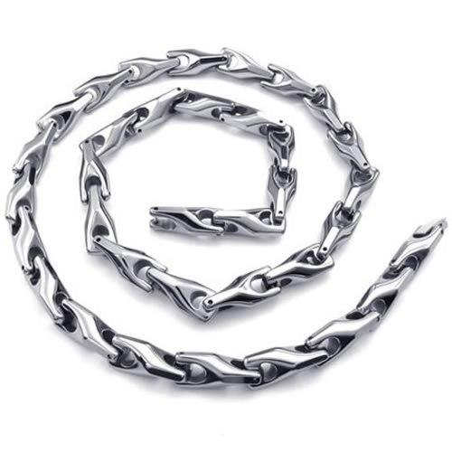 Chaîne de collier en acier tungstène pour hommes largeur 0.8 cm-in Colliers chaîne from Bijoux et Accessoires    3