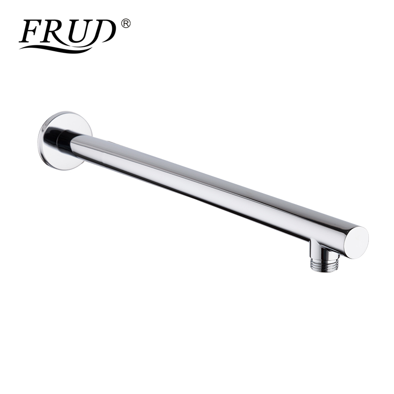 Frud Modern Copper Materials Shower Arm Shower Head Concealed Wall Mounted Fixed Pipe Shower Holder Cylinder Shower Rail Y81020