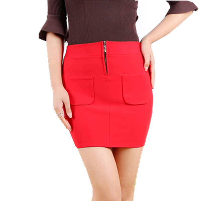 Skirts Mini 2017 High Quality Stretch Jinmian Bubble Short Term Professional Pocket With Zipper Step Womens Free Shipping skirt