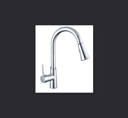 цена на Poland warehouse New Style Pull-out kitchen Chrome faucet hot and cold copper rotatable sink telescopic Kitchen faucet XT-150
