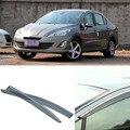 4 шт. Лезвия Боковые Окна Дефлекторы Дверь Солнцезащитный Козырек Щит Для Peugeot 408 2010-2013