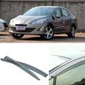4 pcs Lâmina Lateral Do Windows Defletores Porta Viseira Protetor Para Peugeot 408 2010-2013