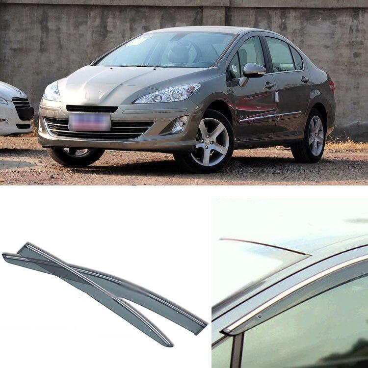 4pcs Blade Side Windows Deflectors Door Sun Visor Shield For Peugeot 408 2010-2013 4pcs blade side windows deflectors door sun visor shield for toyota verso ez 2011 2014
