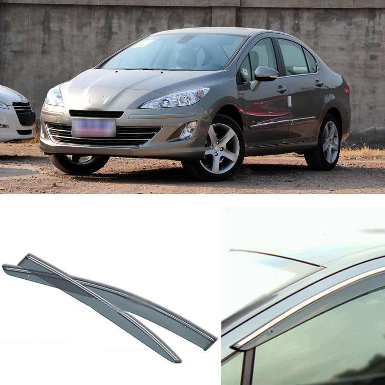 Jinke 4pcs Blade Side Windows Deflectors Door Sun Visor Shield For Peugeot 408 2010-2013 jinke 4pcs blade side windows deflectors door sun visor shield for peugeot 408 2010 2013