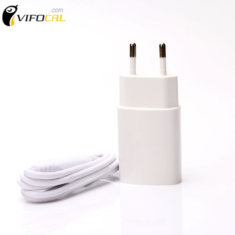 imágenes para Blackview bv6000 cargador + micro usb cable 100% adaptador de carga original de la ue europa estándar accesorio del teléfono para bv6000s
