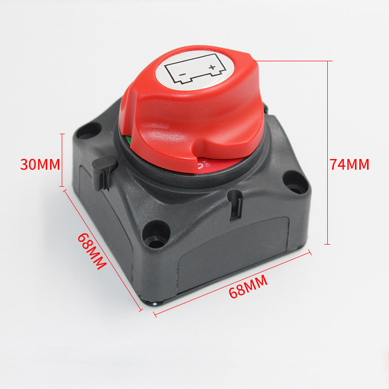 600A 12/24V Disconnect Battery Knob Switch Cut-off On Off Mini ERP Car Marine Boat Yacht Electrical Parts heavy duty 60v 600a marine dual battery selector switch for boat rv semi motor yacht boats red abd black page 6