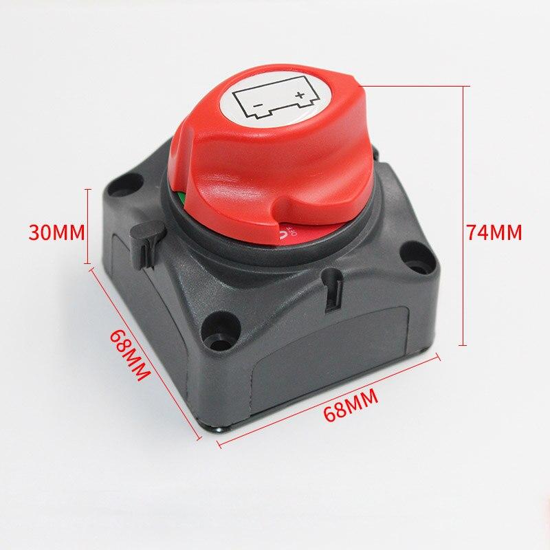 Interrupteur de bouton de batterie de déconnexion 600A 12/24 V coupé sur les Mini pièces électriques de Yacht de bateau marin de voiture d'erp