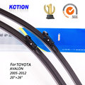 "Car windshield wiper blade para toyota avalon (2005-2012), 20 ""+ 26"", borracha Natural, bracketless limpa, Acessórios do carro"