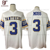 2017 New Cheap Randy Moss 3 Dupont Panthers High School Home Throwback American Football Jersey White
