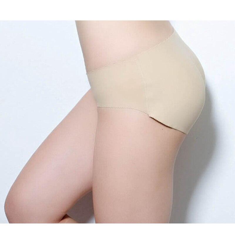Mulheres Calças Sem Costura Calcinha Com Hip Shaper Pad Falso Ass ... e307914b006