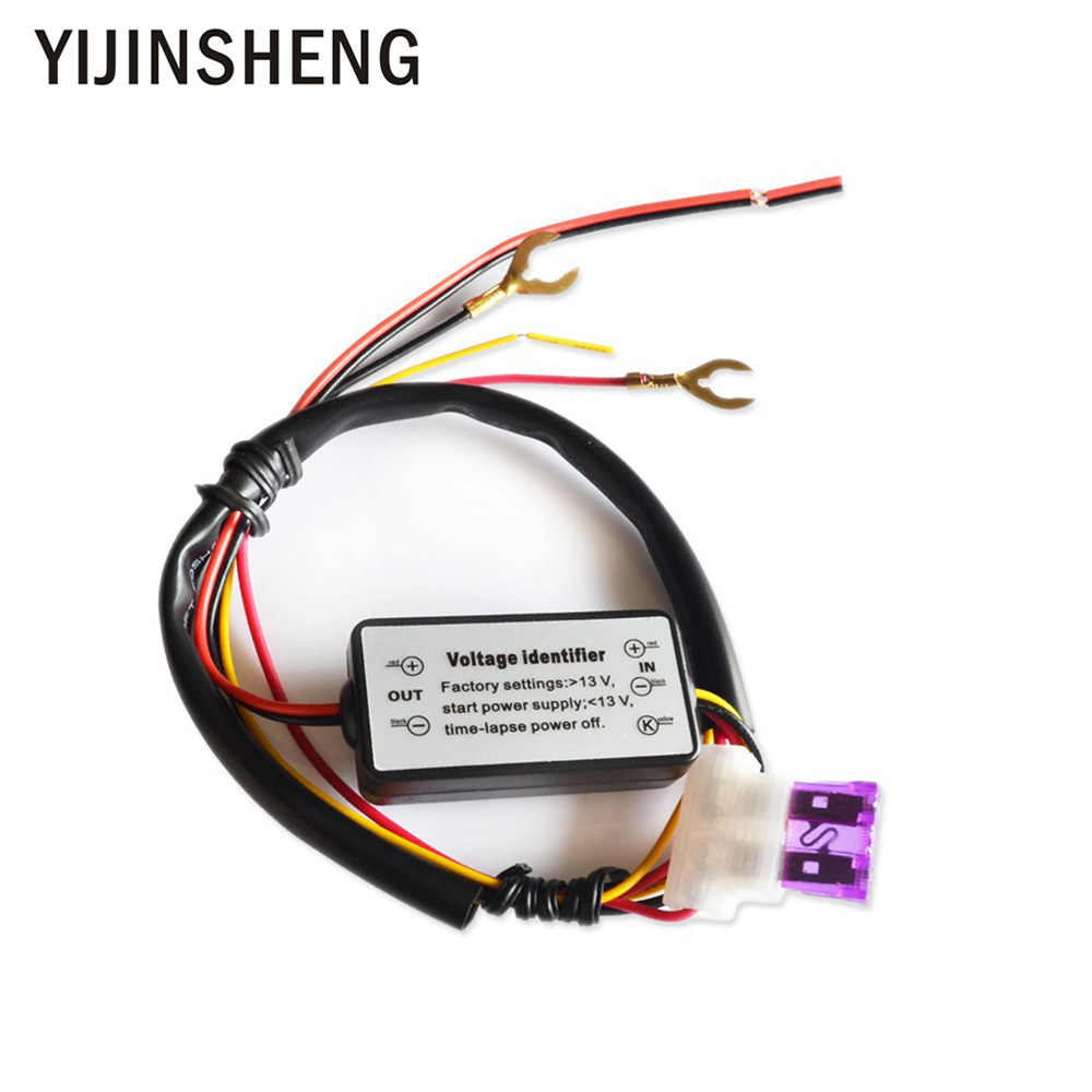 hight resolution of yijinsheng drl controller auto car led daytime running light relay harness dimmer on off 12