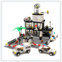 631Pcs Building Block Compatible Legoe Toys City Police Station Model KAZI 6725 DIY Figure Brinquedos Gift