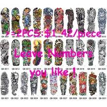 1 Piece Temporary Tattoo Sticker Nun Girl Pray Design Full Flower Arm Body Art Beckham Big Large Fake Tattoo Sticker New QB-3031