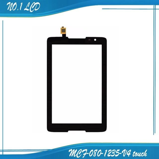 Mcf-080-1235 para lenovo mcf-080-1235-v4/v2 frente de toque de vidro digitador da tela de toque do painel