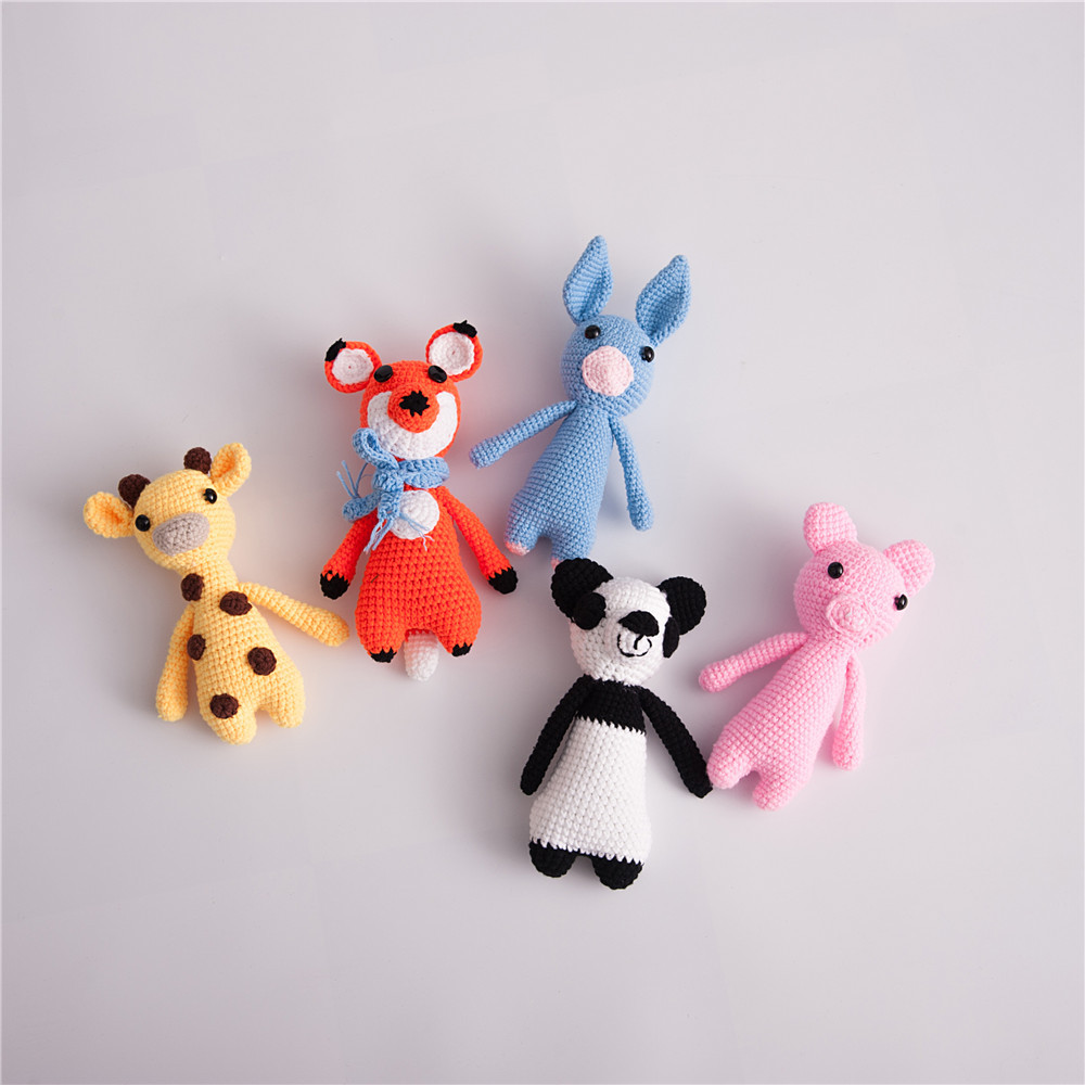 Newborn Baby Photography Props Cute Baby Knitted Toys Baby Animal Photos Photography Babies Accessories Kids Photo Props Doll