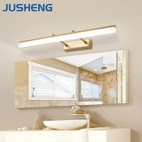 חדר רחצה המודרנית JUSHENG LED מנורת קיר פמוטים קיר אורות עם זווית אלומת מתכווננת מעל מראה מנורות תאורת קיר תפאורה
