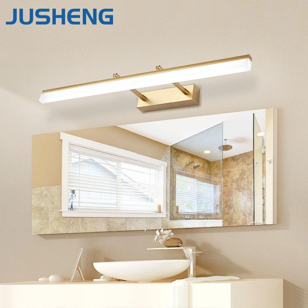 Illuminazione Bagno A Parete us $28.88 35% di sconto|jusheng bagno moderno lampada da parete a led con  angolo del fascio regolabile sopra specchio applique da parete lampade  della
