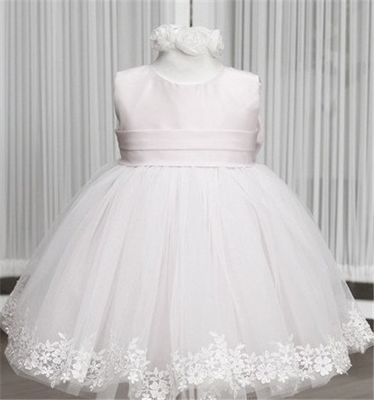 Popular White Tulle Baptism Dress-Buy Cheap White Tulle Baptism ...