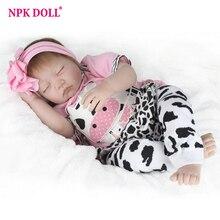 22 55cm Silicone Reborn Baby Doll Kids Accompany Newborn Realistic Dolls Christmas Gift