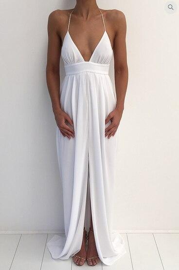 maxi dlouhé ženy tuniky prom přistávací dráha tělesná bílá bez podšívka letní bavlna večerní podlahová délka šaty z ramene 2018 letní šaty