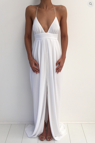 maxi long women tunics prom runway bodycon white backless  summer cotton evening floor length dress off shoulder 2018 sundress