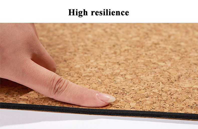 Black Cork Natural Rubber Yoga Mat 17