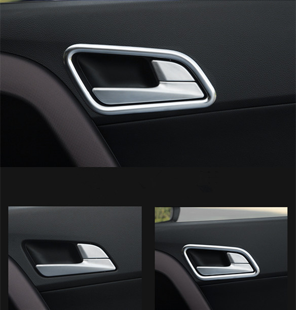 Keao For ix25 Hyundai Creta Chrome Inner door bowl cover styling stickers ABS trim accessory products