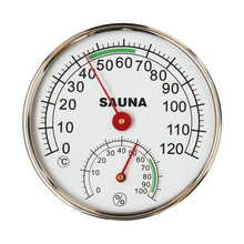 Sauna Thermometer Stainless Steel Case Steam Room Hygrometer In the sauna room accessories for