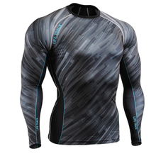 Mens Fitness Professional Compression Shirts Base Layer Workout Print Tee MMA Bodybuilding T Shirt Sweatwears Rush