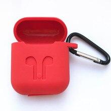 50 sztuk miękkiego silikonu obudowa ochronna dla Apple Airpods ładowanie case przenośny Slim obudowy z pęku kluczy powietrza strąków torba do powieszenia