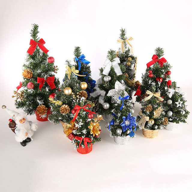 4 colors mini christmas tree decorations desk table decor small party ornaments gift christmas decorations for - Mini Christmas Decorations