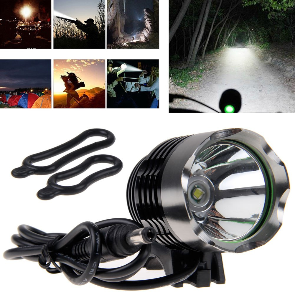 Rechargeable Bike Light Front Handlebar Headlight Flashlight Cycling Led Light Bicycle Head Light Lamp Torch Bicycle Accessories