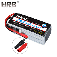 HRB Lipo 6S Battery 16000mah 22.2V XT150 XT90 Deans T XT60 EC5 TRX 25C For Multicopter Airplanes Helicopter Skateboard RC Parts