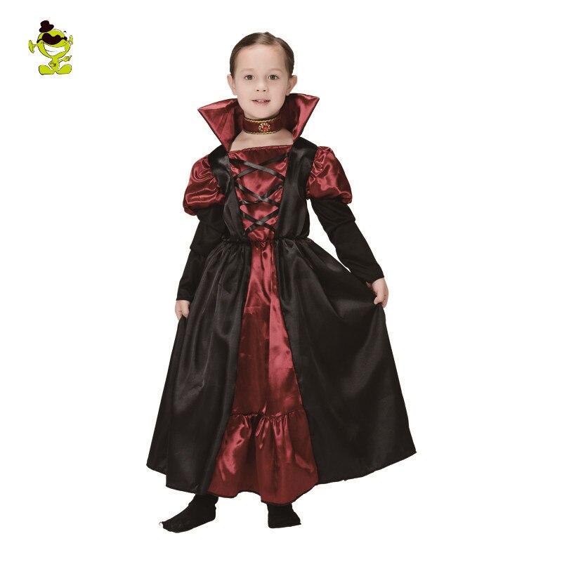 aliexpresscom buy kids vampire girl costume halloween party rerto vampire queen princess costumes dress medieval bloodsucker girls cosplay suit from - Halloween Costumes Vampire For Girls
