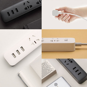 Image 5 - Originele Xiaomi Smart Home Elektronische Power Strip Socket Snel Opladen 3 Usb Met 3 Stopcontacten Standaard Plug