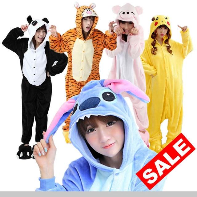 9684694a1c Wholesale Pajamas Stitch Unicorn Panda Unisex Flannel Hoodie Animal Onesies  Sleepwear Costume Cosplay For Men Women