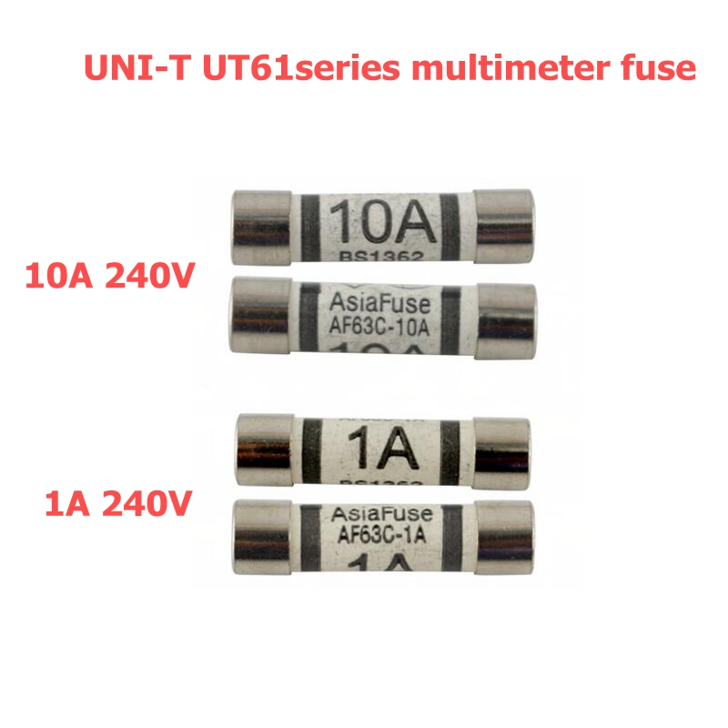 4PCS UNI-T Multimeter Ceramic Fuse 10A 250V and 1A 250V for ut61a ut61b ut61c ut61d ut61e Digital multimeter