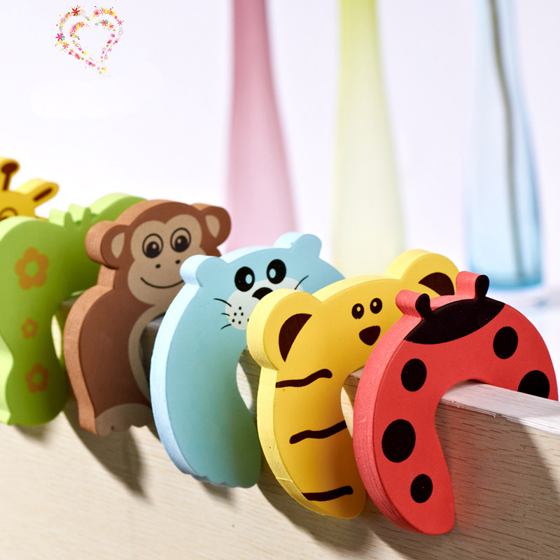 10pcs/lot Animal Cartoon Baby Safety Door stopper baby protecting product Children safe anticollision , Finger Protect