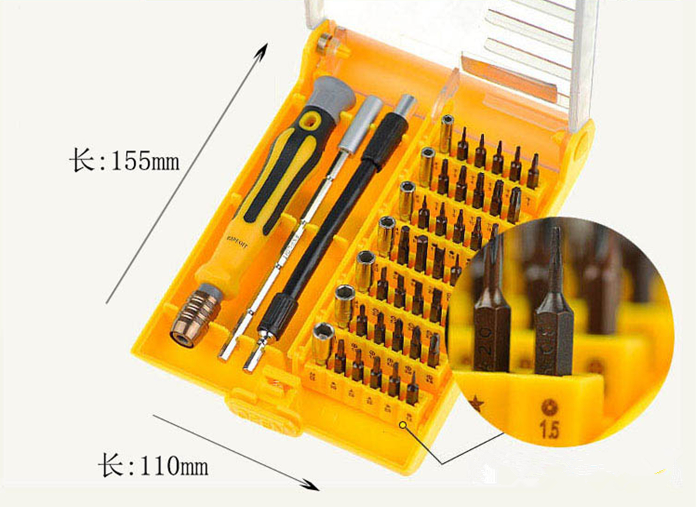 Screwdriver Set 45 In 1 Cross Head Screwdriver Chave De Fenda Durable Darafusadeira Microtech Hand Tool For Mobile Computer