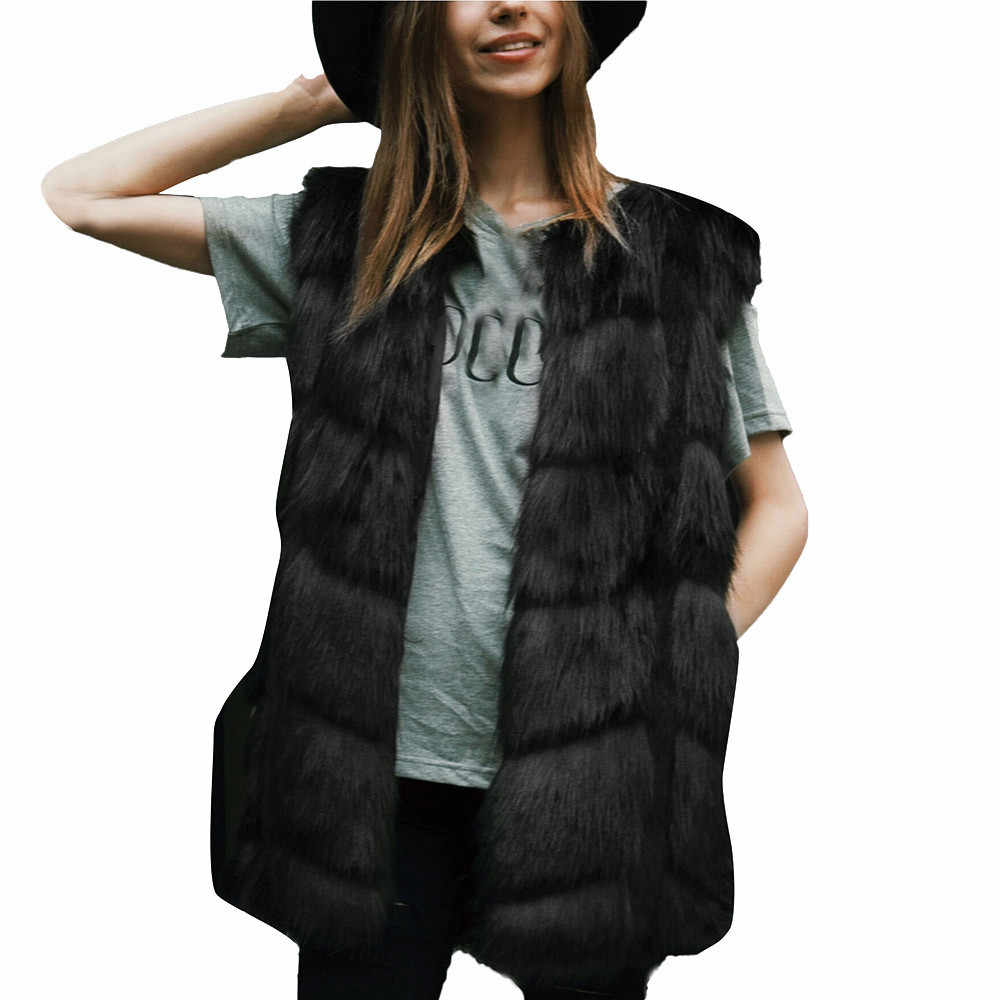a7fe4b84755 ... Srogem Fashion Winter Bodywarmer Women Faux Vest Polly Pocket Sherpa  Colete Feminino Gilet Femme Kamizelka Chaleco ...