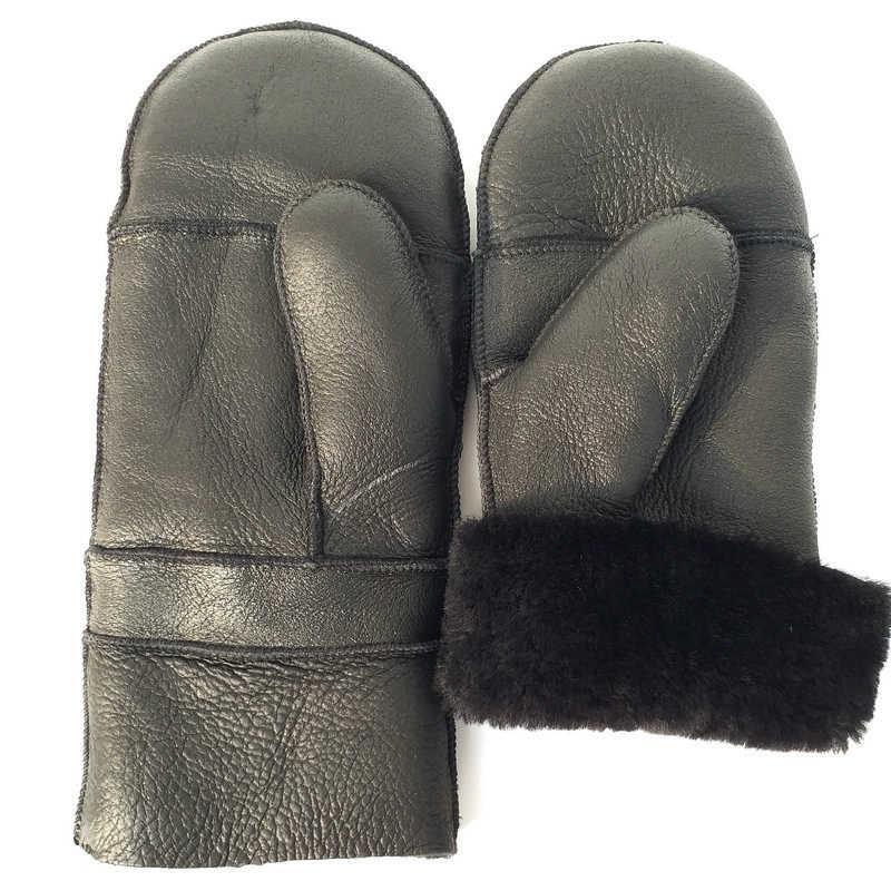 新 2019 特大シープスキン手袋 luva 肥厚、拡大、純粋な天然高品質のシープスキン手袋、野球グローブ、暖かい