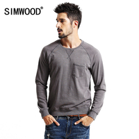 SIMWOOD 2017 New Autumn Spring Sweatshirts Men Casual Hoodies Male 100% pure Cotton Slim Fit High Quality WY8031