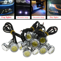 20pcs LED Universal Car Eagle Eye Light Auto White Bulb Car Light DRL Daytime Running Light Parking Signal 23mm 12V