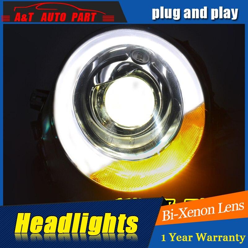 Styling de voiture Pour Mini F56 cooper assemblée phare Pour F56 LED tête lampe Angel eye led DRL avant de lumière h7 avec hid kit 2 pcs.
