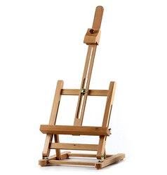 40cm juego de arte Mini artista mesa de madera pintura plegable Marco de atril trípode ajustable estante de exhibición al aire libre estudio marco de exhibición