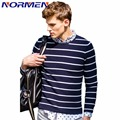 2017 New Men's Fashion Striped Sweaters Casual Preppy Style Pullover for Men Thin Wool O-neck Knitted Sweater Drop Shipping