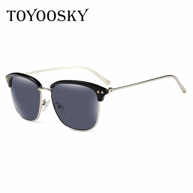 4657a46df47 TOYOOSKY Semi Rimless Square Sunglasses Men Brand Designer Points Women  Male Driving Sun Glasses Vintage Eyewear UV400